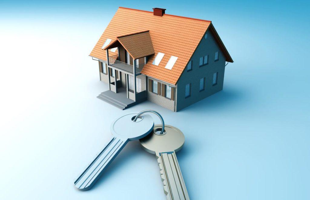 dom, kľúče